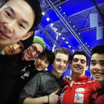 Such an incredible week of competition! Now its time for the closing exhibition with these awesome guys! #WCShanghai http://t.co/UzoB6EPfOm
