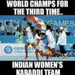 """INDIA WON THE WORLD CUP IN KABADDI,CONGRATULATE  THEM http://t.co/Xop0E6NaTi"" if only other sports got as much attention as cricket!#proud"