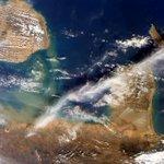 Via AstroSamantha: Captivating colors in the Golfo de #Venezuela. #HelloEarth http://t.co/wI7CJUWfMv via sijoroma