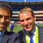 Always a delight working with the great @ShaneWarne. This time at the MCG. http://t.co/RsLp0pNszL