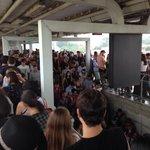 Estação Autódromo lotada na chegada ao Lollapalooza #vejaspaovivo http://t.co/yGF9LWfhkI