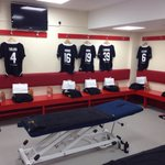 More shots from inside the dressing room of Steven Gerrards #LFCAllStars squad. http://t.co/n9r2g6VeYL