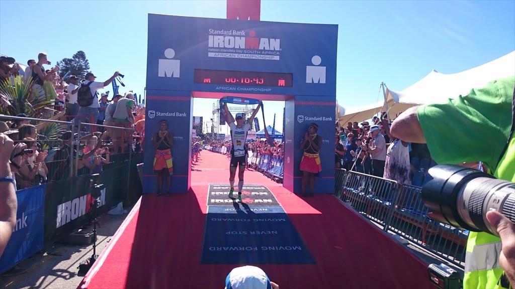 Frederik Van Lierde won the Ironman South Africa 2015. Our ambassadors Ivan Rana and Bart Aernouts completed the podium.