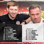 A reminder of todays two #LFCAllStars teams in full... http://t.co/6TsbckAgSr