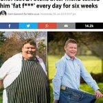 """Повар похудел на 133 кг. после того, как каждый день 6 недель друг отправлял ему сообщение со словами: """"Жирный ху***"""" http://t.co/NImw75eQta"""