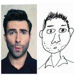 Sehabis menggambar wajah Adam Levine, mirip gak: http://t.co/5JOHijvMIi