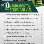 Amigo ciudadano tenga en cuenta los 10 mandamientos de seguridad vial #SemanaSantaSegura #Montería @CHICACERETE http://t.co/tSCCPC4KRP