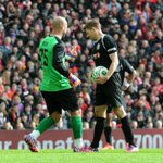 Pepe Reina attempts to put off Steven Gerrard - but he scores from the spot! #LFCAllStars http://t.co/nM55UOCH3C