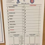 #Royals lineup for this afternoon vs the Cubs. Listen live on @610SportsKC at 3:05 CT http://t.co/k13w3daHad