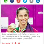 My darling @NSaina maintains the No1 position again ! #SainaNehwal beats #Ratchanok n wins maiden #IndiaOpen title http://t.co/SXzjiByF7h
