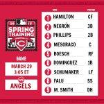 March 29 lineup #RedsSpring http://t.co/4jb2zvF0LP