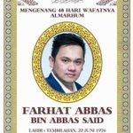 Mengenal 40harinya Farhatabbas. :D #RIPFarhatAbbas http://t.co/t7z7dmZYSl