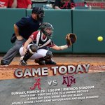 .@BamaSB goes for the sweep over No. 23 Texas A&M today at 1:30 p.m. at Rhoads Stadium! See you there! #RollTide http://t.co/Jp8AC8Ma14