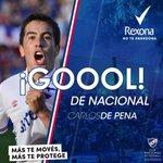 Goooooool de Nacional! @carlosdepena pone el 3-1 ante Atenas #DaleBolso. Con @Rexonamenuy #MásTeMovésMásTeProtege http://t.co/ryzEZvIIKb