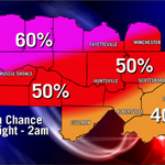 A round of showers, possible storms, tonight. Timing specifics: http://t.co/03fCtFdPKU  #valleywx #alwx #tnwx http://t.co/rAYPKKMFY7