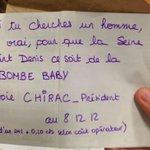 Encore 1 bulletin de vote rigolo trouvé lors dun dépouillement #departementale2015 #Dep2015 #chirac #SeineSaintDenis http://t.co/m6VdotdFD5