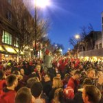 ICY(somehow)MI— @BadgerMBBs Final Four berth sent #Badgers pouring onto State Street last night. http://t.co/bLW0qYfOzg