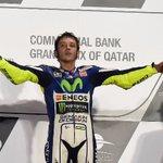 """#MotoGP #GPQatar Valentino Rossi: """"Ha sido sin duda una de las mejores carreras de mi vida""""   http://t.co/liFsJVGs6K http://t.co/8s1Ms8z280"""