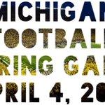 Michigan Football Spring Game. Saturday. #GoBlue http://t.co/LAQ6d4LJUY