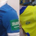 #صورة علم #السعودية على أكتاف لاعبي كل الأندية في السعودية، دعما لـ #عاصفة_الحزم - http://t.co/4ZYugs8Dc7