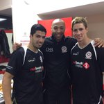 With two of the greatest strikers Ive ever met, @ThierryHenry and @LuisSuarez9 #LFCAllStars http://t.co/PCjqjnfuvH