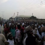 Photo from Bauchi LGA Collation Centre Ran Road Bauchi as voters follow up declared results with INEC @ChannelsTV_NG http://t.co/bDwioqfX4H