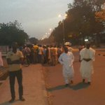 Over Our Dead Bodies! As People defied Curfew To Protect Their Votes at The INEC Office In Bauchi. http://t.co/0diSCnIIHv
