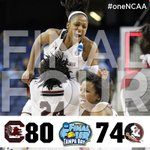"""Yeah! """"@GamecockWBB: FINAL FOUR!!! #Gamecocks WIN 80-74 advance to Final Four for the first time in school history! http://t.co/RUnmWX3OGP"""""""