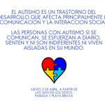 @dcastro65 Día de la Concientización del Autismo. Jue. 02/04. A partir de las 16hs en Los Dedos. PDE #Uruguay http://t.co/w9g87utesa