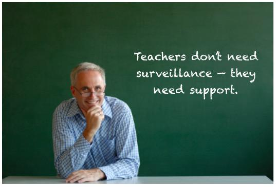 Teachers don't need surveillance -- they need support. #ISTP2015 #edchat http://t.co/YZu39MA4S0