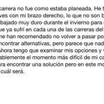 Dani Pedrosa se retira temporalmente del motociclismo por una lesión. Éste es su comunicado de esta noche en Catar: http://t.co/SUqAsJxBxu