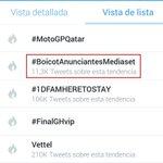 Que Twitter censura, la gente se suma. Volvemos a ser TT con #BoicotAnunciantesMediaset http://t.co/DD2Te2KJox