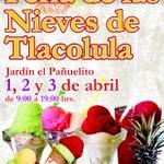 Del 1 al 3 de abril, el jardín El Pañuelito será sede de la 1ª Feria de las Nieves de Tlacolula. #Oaxaca http://t.co/58XIeS4hcW