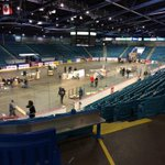 Moncton Coliseum. 5:40 PM Local time. Game at 8. Chances it starts on time? Pretty slim. #QMJHL http://t.co/I2enoSsBhn