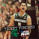 Michigan State pulls out the 76-70 nail-biter over Louisville in OT and the Spartans are headed to the #FinalFour! http://t.co/BEa2bwlIRu