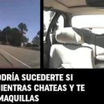 (VIDEO) Fuertes imágenes de jóvenes que chateaban o se maquillaban mientras conducían http://t.co/o9y0auN0FR http://t.co/FPPz4xMmPs