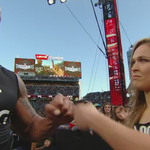 .@TheRock has recruited @RondaRousey!!  #WrestleMania @UFC  @StephMcMahon http://t.co/VDI3cLAOeb