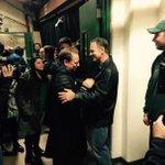 Dantonio greets Izzo http://t.co/CEUmctiVEM