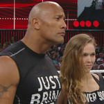 """STEPH: """"Get the Hell out of my ring!"""" RONDA: """"Any ring I step into is MINE!"""" #WrestleMania http://t.co/VQa4e7mZSg"""