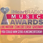 #iHeartRadioMusicAwards watchers! RT for a chance to win $200 #LNConcertCash! #Entry Rules: http://t.co/CDVDo36xRk http://t.co/bvBAILgbAf
