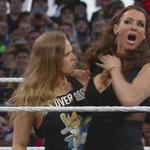 Thats RONDAs arm now!!!  #WrestleMania @RondaRousey @STephMcMahon http://t.co/mf3UEkrIgC