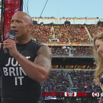 """""""That is called BEING OWNED!!"""" - @THEROCK @RondaRousey #WrestleMania @StephMcMahon http://t.co/rPFB4irCwo"""