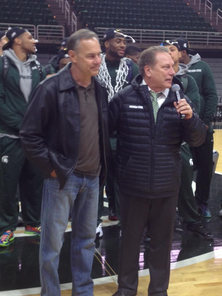 """@thesnews_sports: Mark Dantonio and Tom Izzo http://t.co/aq2IGvDGtw""BEST COACH DUO"