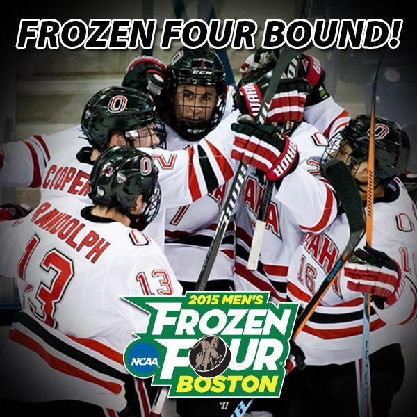 Believe it! WE ARE FROZEN FOUR BOUND! #omavs #ncaahockey #frozenfour http://t.co/65vb7w0lqv