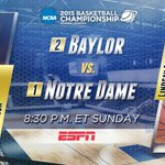 Baylor and Notre Dame square off for a spot in the Womens Final Four. #WhatItsAllFour #ncaaW http://t.co/6gALVqj9AQ