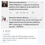 #NigeriaDecides Buhari Urges Nigerians To Exercise Patience As We Expect The Announcement Of The Results. http://t.co/81tCKOLZed