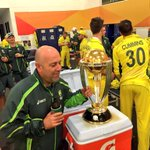 That moment where Haddin realised the trophy resembled @darren_lehmanns head. Congrats @CricketAus! #WorldChampions http://t.co/IUKp8m59Of