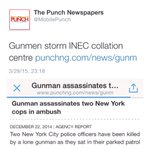In New York? In December 2014? #smh RT @MobilePunch: Gunmen storm INEC collation centre http://t.co/YbHo1AgBF6 http://t.co/5voJwHLAd5