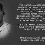 #MLB Marineros expresó sus condolencias por la partida de Víctor Sánchez http://t.co/SBQbx4xOTr http://t.co/1oQZ9trTX6