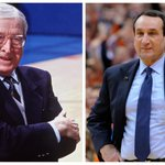 With this win, Coach Mike Krzyzewski ties John Wooden for most Final Four appearances in NCAA history with 12. http://t.co/8gOerOYPp2